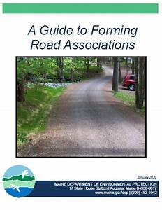 Road Associations  Maine Department Of Environmental