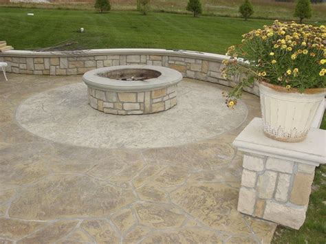 Maybe you would like to learn more about one of these? outdoor space addition - Google Search | Concrete fire pits, Concrete patio, Concrete patio with ...