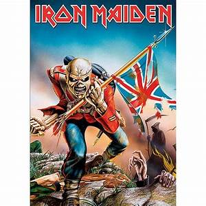 Iron Maiden The Trooper Postcard Band Album Cover Picture ...