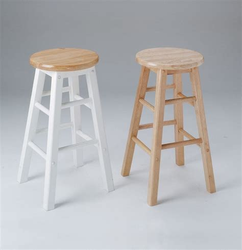 2 metro bar stools in and white rustic bar