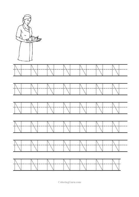 Free Printable Letter N Worksheets For Kindergarten  Kids Letter Learning Activitiesfree