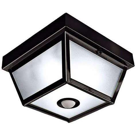 benson black 9 1 2 quot wide motion sensor outdoor ceiling