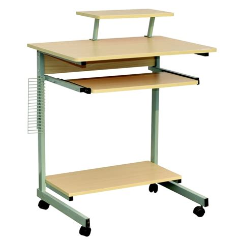 Office Desk On Wheels by Homegear Compact Home Office Computer Desk On Wheels Maple