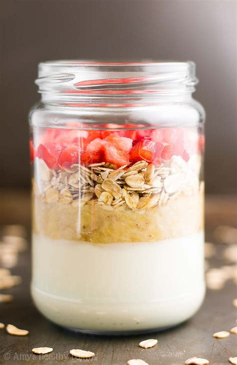 bed set strawberry banana bread protein overnight oats 39 s