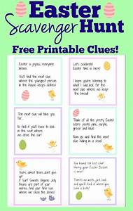 Easter Scavenger Hunt (Free Printable Clues!)   !! Top ...