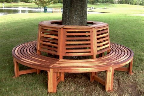 tree with bench outdoor wood tree bench forever redwood
