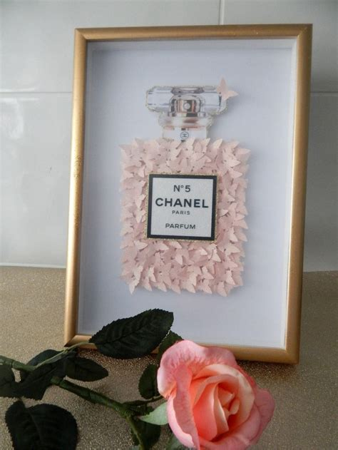 dior silver  box picture  dior bottle framed