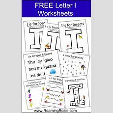 Letter I Free Alphabet Worksheets For Kids  Roaming Rosie