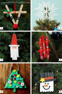 10 fun and easy kids christmas crafts craft sticks ornament and craft
