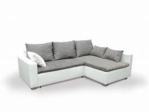 Eckcouch Mit Verstellbarer Sitztiefe : mirko ecksofa eckcouch weiss grau rechts ~ Bigdaddyawards.com Haus und Dekorationen