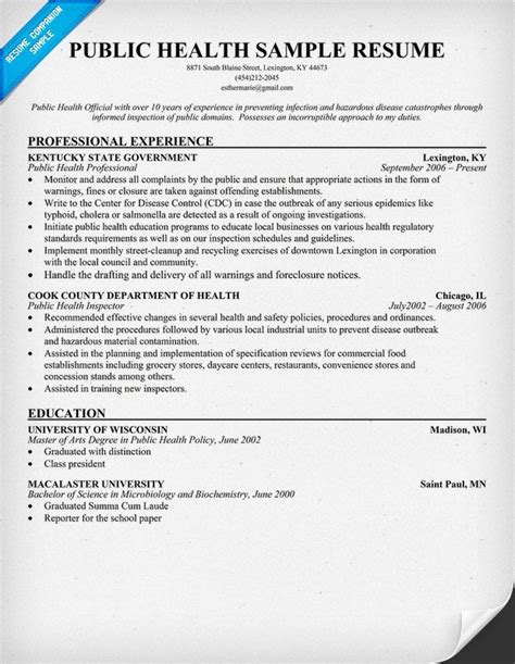 Healthcare Resume Tips by Pin By Resume Companion On Resume Sles Across All