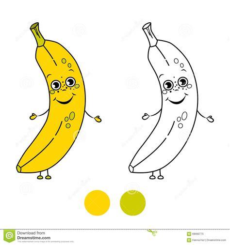 sieges enfants banane page de livre de coloriage illustration de vecteur