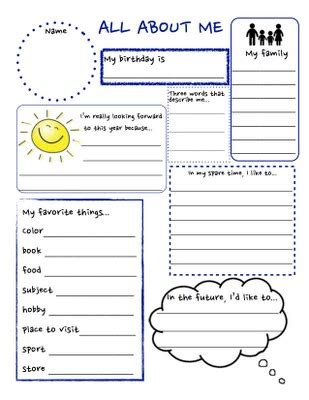 all about me worksheet pdf getting to you worksheet