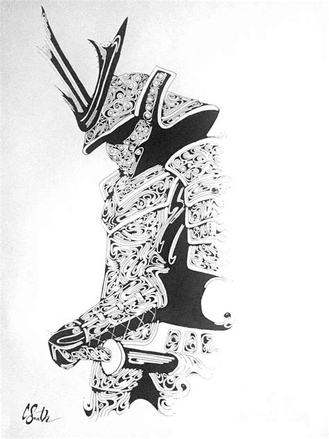 Samurai Drawing by Charles Smith