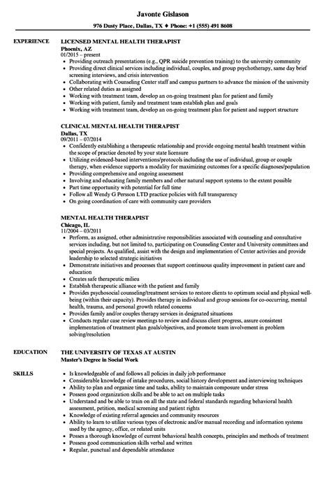 sle resume for therapist resume for study
