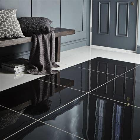 livourne black polished floor tile pack   lmm