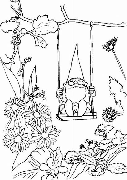 Gnome Coloring Pages David Garden Printable Gnomes