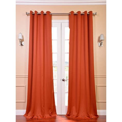 exclusive fabrics blaze grommet blackout thermal curtain