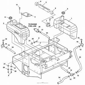 Bunton  Bobcat  Ryan 942228  61 Side Discharge Parts Diagram For Fuel