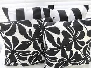 Black and White Pillow, Decorative Throw Pillows, Pillow