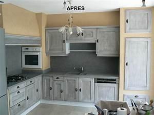 Les cuisines de claudine renovation relookage relooking for De couleur peinture 7 peinture meuble cuisine avant chouin peinture