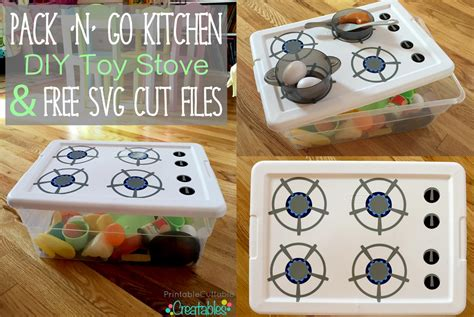 commercial stove with knobs pack 39 n 39 go kitchen diy stove tutorial free svg cut