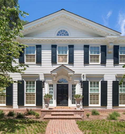 neoclassical style homes crown moulding dominates this updated neoclassical