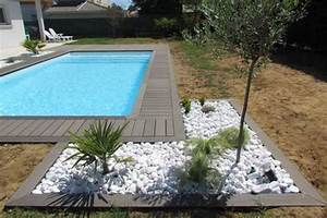 plage de piscine et galets france jardin pinterest With awesome amenagement autour piscine bois 1 nos realisations portfolio