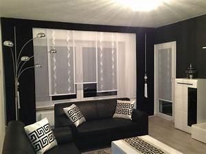 Ideen Für Schiebevorhänge : designer gardine esszimmer ma gefertigt modern schwarz ~ Watch28wear.com Haus und Dekorationen