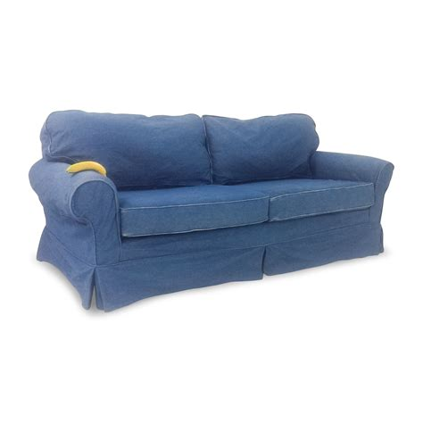 blue jean denim sofa denim blue sofa klaussner madison slipcover sofa denim
