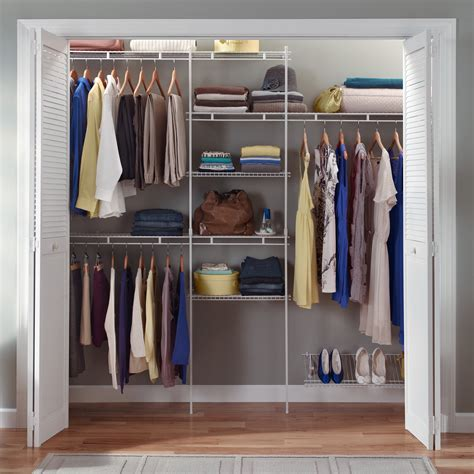 closetmaid 5 8 ft closet organizer with shoe rack wire
