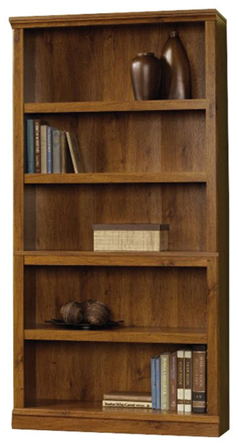 How To Build A 5 Shelf Bookcase by Sauder Select 5 Shelf Bookcase In Oak Finish