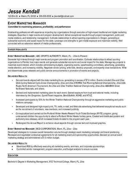 resume format resume for marketing manager