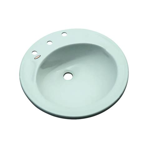 bisque kitchen faucets province drop in bathroom sink in seafoam 90844 the home