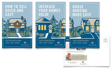 real estate postcard templates real estate postcard template design