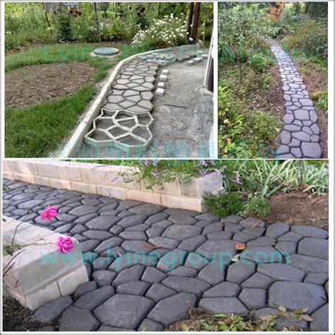lyine diy plastic driveway patio random concrete sting