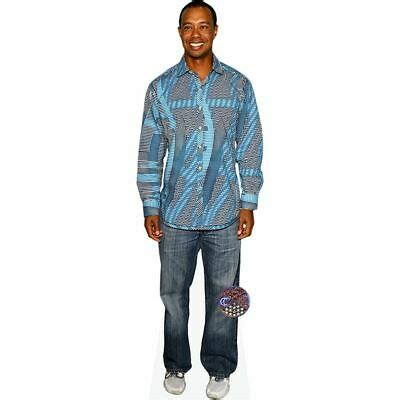 Tiger Woods (Blue Top) Life Size Cutout | eBay