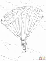Parachute Coloring Army Drawing Pages Paratrooper Printable Drawings Dot sketch template