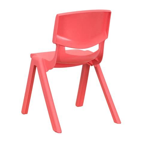 plastic stackable school chair with 12 inch seat