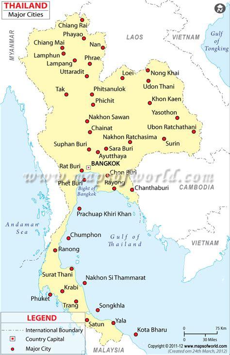 map  thailand  cities  islands bogdak chan