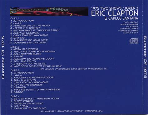 eric clapton quot can t find my way home quot guitar tab sugarmegs audio setlist New