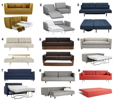 modern sofa beds sleeper sofas guests wont hate