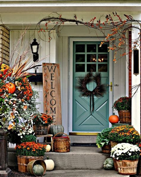 Ideas For Fall Front Porch by 41 Cozy Thanksgiving Porch D 233 Cor Ideas Digsdigs Fall