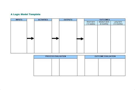 logic model templates  word  documents