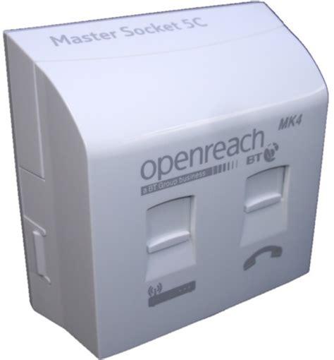 bt openreach mk4 vdsl plate with nte5c mk2 socket