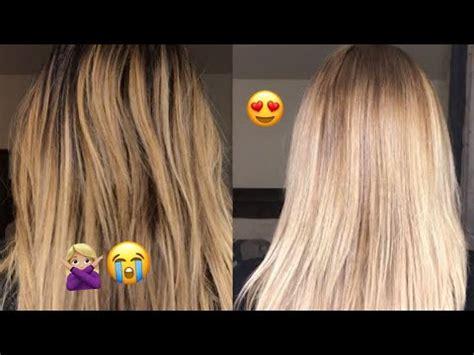 tone  blonde balayage  wella  youtube