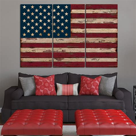 american flag canvas wall let s make comfortable living room interior design with 7434