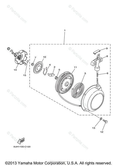 yamaha atv 2005 oem parts diagram for starter partzilla
