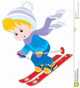 Child skiing stock vector. Illustration of childly, skier ...