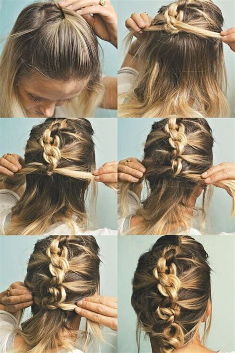 18 quick and simple updo hairstyles for medium hair